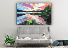 Large Abstract Painting Modern abstract paintingoil hand image 6 Colorful Artwork, Colorful Paintings, Original Paintings, Original Art, Extra Large Wall Art, Office Wall Art, Modern Wall Decor, Large Painting, Texture Art