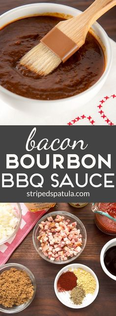 Bacon Bourbon BBQ Sauce is smoky, tangy, and easy to make!