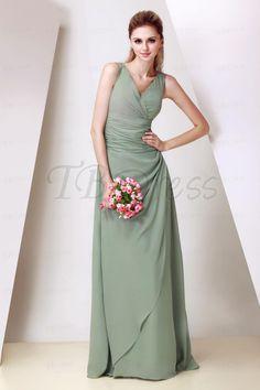 A-Line Floor-Length V-Neck Dasha's Bridesmaid Dress $53.59