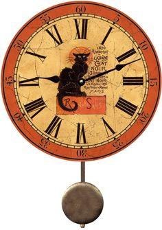 Black Cat Clock-Chat Noir Black Cat Clock