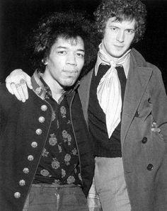 Two of the greatest guitarists of all time.  Jimi Hendrix and Eric Clapton. no big deal.
