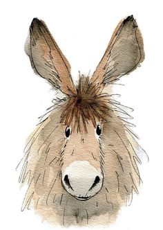 Limited edition print Dennis the donkey donkey print