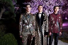 Domenico and Stefano presented their Dolce & Gabbana ALTA MODA womenswear and ALTA SARTORIA menswear collections at a runway fashion show in Tokyo.