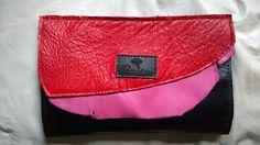 Monedero de cuero, tricolor - Raiza Handbags