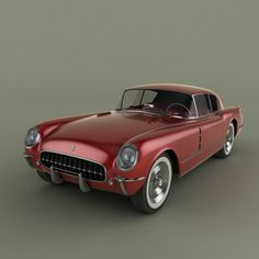 1953 Chevrolet Corvette Concept car, this the fastback was the Corvair model