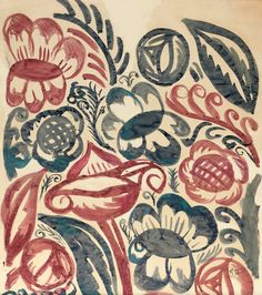 Rose Sauvage: Raoul Dufy Invents Art Deco Red and Blue Flowers-textile design for Bianchini-Ferier Hokin Gallery, Palm Beach Raoul Dufy, Century Textiles, Textile Prints, Textile Design, Fabric Design, Floral Design, Blue Painting, Textures Patterns, Floral Patterns