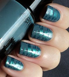 blue and gray! #nails