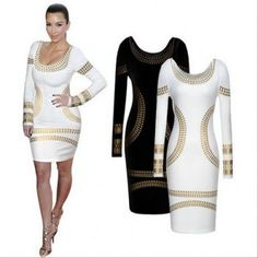 NEW FASHION FOR WOMEN LOW-CUT O-NECK SEXY PACKAGE HIP BACKLESS BRONZING DRESS EVENING PARTY DRESS 1159