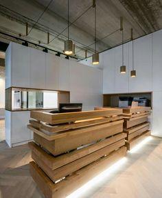 Wood receptional  desk