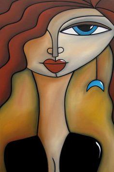 Magical Original Acrylic On Canvas Painting by Tom Fedro - Fidostudio