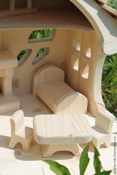 Кукольный дом ручной работы. Домик с камином.. 'Добрые руки' семейная мастерская. Ярмарка Мастеров. Деревянные игрушки, натуральные игрушки