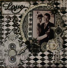 It's Love - *Scraps of Darkness** - Scrapbook.com Enchanted paper