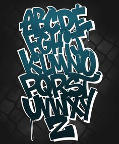 Graffiti Lettering Alphabet, Graffiti Text, Chicano Lettering, Graffiti Words, Graffiti Tagging, Graffiti Drawing, Graffiti Styles, Calligraphy Alphabet, Islamic Calligraphy