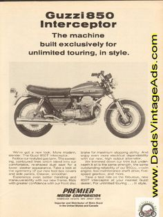 1974 Moto Guzzi 850-T Interceptor - Unlimited Touring In Style