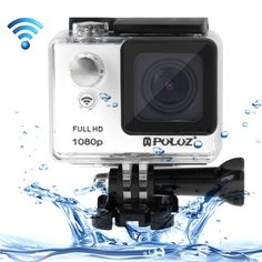 PULUZ U6000 Full HD 1080P 2.0 inch LCD Screen WiFi Waterproof Multi-function Sport Action Camcorder, Novatek NT96650 Chipset, 175-degree Wide-angle Lens(White)