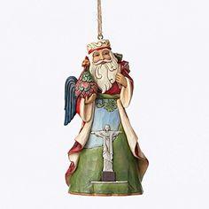 Enesco Jim Shore Brazilian Santa Around World Ornament