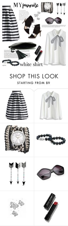 """Wardrobe Staples #3"" by wynsha ❤ liked on Polyvore featuring Chicwish, Sara Designs, Loeffler Randall and Bobbi Brown Cosmetics"