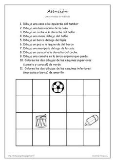 Atencion 05 Spanish Classroom Activities, Spanish Teaching Resources, Spanish Lessons, Speech Language Therapy, Speech And Language, Teacher Problems, Bilingual Education, Listening Skills, School Psychology