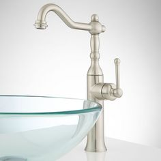 Sidonie Single-Hole Vessel Faucet with Pop-Up Drain - Vessel Sink Faucets - Bathroom Sink Faucets - Bathroom
