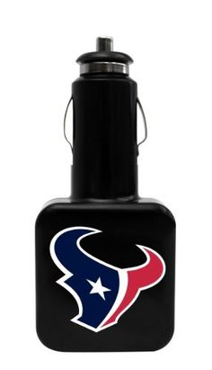 Tribeca Gear Twin USB Car Charger - Houston Texans, Black by Tribeca. $18.20. Charge up, sync up, and show your team spirit with this two-piece Car Charger and Charge/Sync Cable set from Tribeca Gear. Plug the charger into any standard automobile outlet or cigarette lighter and use the two USB ports to charge and power your mobile devices while you're on the go. The included charge/sync cable features a USB connector at one end and a 30-pin connector at the other. Use it to co...