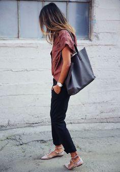 Adoro as sapatilhas e sapatos Valentino. Look perfeito!