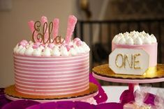 Pink + White Cakes f