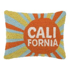 California Sun Hook Throw Pillow