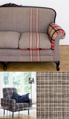 I don't care too much for the chair, but that #couch is amazing, love the  fabric that was used