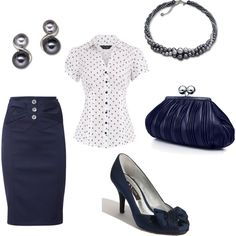 Classic Navy n' Pearls, created by disneydiva7.polyvore.com