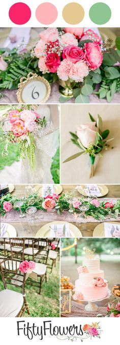Looking for color combination inspiration? We partnered with Azazie to show you different color schemes and floral suggestions based on the season. Diy Flowers, Fresh Flowers, Color Combinations, Color Schemes, Wedding Bouquets, Wedding Flowers, Spring Wedding Inspiration, Wedding Decorations, Table Decorations
