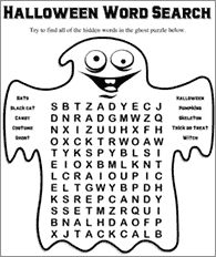 funschool halloween free halloween printables for kids - Halloween Word Searches For Kids