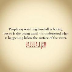 my favorite sport! I love baseball! Watching it right now as a matter of fact!