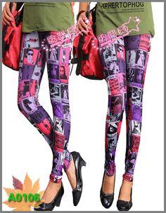 Stocking Print Punk Pants Leggings Fashion 2013 Women Leggings For Girls Leggings Winter LML0026