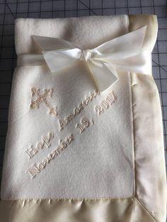 Baby Christening Dribble Bib Baptism Embroidered Wedding Gift White Ivory