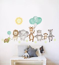 Safari Nursery, Woodland Nursery Decor, Animal Nursery, Cute Baby Shower Gifts, Nursery Wall Stickers, Baby Room Decor, Kids Room, Decoration, Etsy