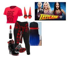 Fastlane 2016: Charlotte Vs Brie Bella by black-onyxx on Polyvore featuring MAC Cosmetics and NIKE