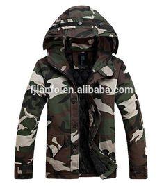 mens woodland camouflage jacket;army jacket;men's fashion padding jacket