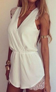 all white + gold accessories.