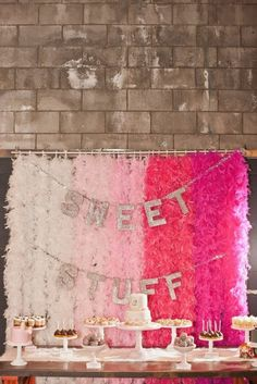candy buffet backdrop