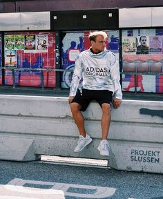d370975d389 Silver Surfer Robin Sebastian wearing the Tech Rev Windbreaker by adidas  Originals in the streets of