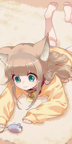 original kinako Kinako OriginalYou can find illustration art girl and more on our website Kawaii Neko Girl, Lolis Neko, Chica Gato Neko Anime, Loli Kawaii, Cute Anime Chibi, Cute Anime Pics, Anime Neko, Cute Neko Girl, Anime Wolf Girl