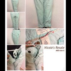 American Eagle bottoms Cotton pants. Adjustable from capris to full length pants. American Eagle Outfitters Pants Ankle & Cropped