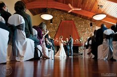 The indoor wedding ceremony venue at The Vancouver Golf Club in Coquitlam, BC. Photo by Will Pursell Photography, as seen on BRIDE. Indoor Wedding Ceremonies, Indoor Ceremony, Wedding Reception Venues, Best Wedding Venues, Wedding Places, Wedding Catering, Wedding Ceremony, Golf Wedding, Event Services