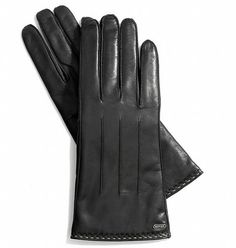 Coach touchscreen gloves -- a must for the social media maven. (Or texting addict)