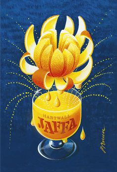 The brand new Erik Bruun Jaffa-poster now available for orders. Size 70 x 100 cm. Vintage French Posters, Vintage Travel Posters, Retro Posters, Poster Ads, Advertising Poster, Poster Prints, Retro Ads, Vintage Advertisements, 1950s Ads