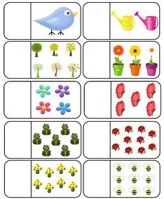 Spring Count and Clip Cards: Numbers Kindergarten Math Worksheets, Preschool Learning Activities, Preschool Printables, Preschool Activities, Kids Learning, Arabic Alphabet For Kids, Montessori Math, Numbers Preschool, Math For Kids