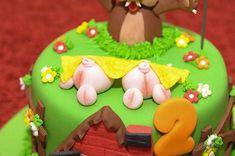 A festa Três Porquinhos dos dois anos de MH | detalhe do bolo | http://alegarattoni.com.br/a-festa-tres-porquinhos-dos-dois-anos-de-mh/