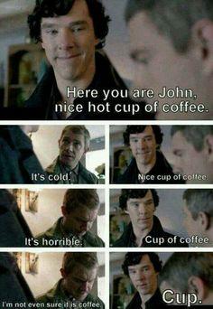 sherlock, funny, and coffee resmi