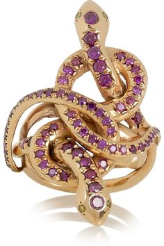 Ileana Makri Poison Hug 18-karat rose gold diamond ring