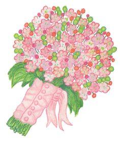 Wall Art - Bridal Bouquet Art Print - 8 x 10 - Floral Art on Etsy, $24.95